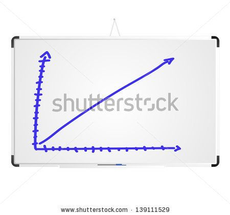 Hand Draw A Graph On Whiteboard Keywords Abstract Achievement