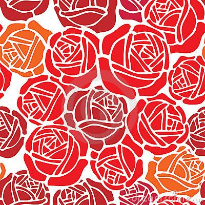 Floral Wallpaper Pattern With Rose Design