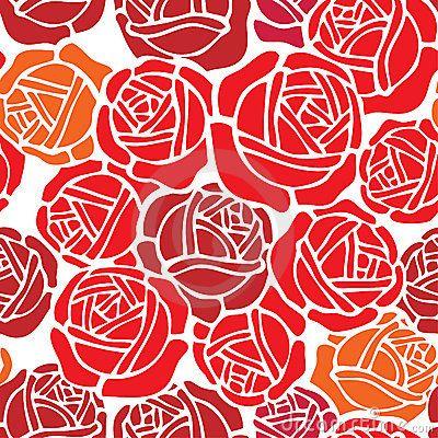 Floral Wallpaper Pattern With Rose Design