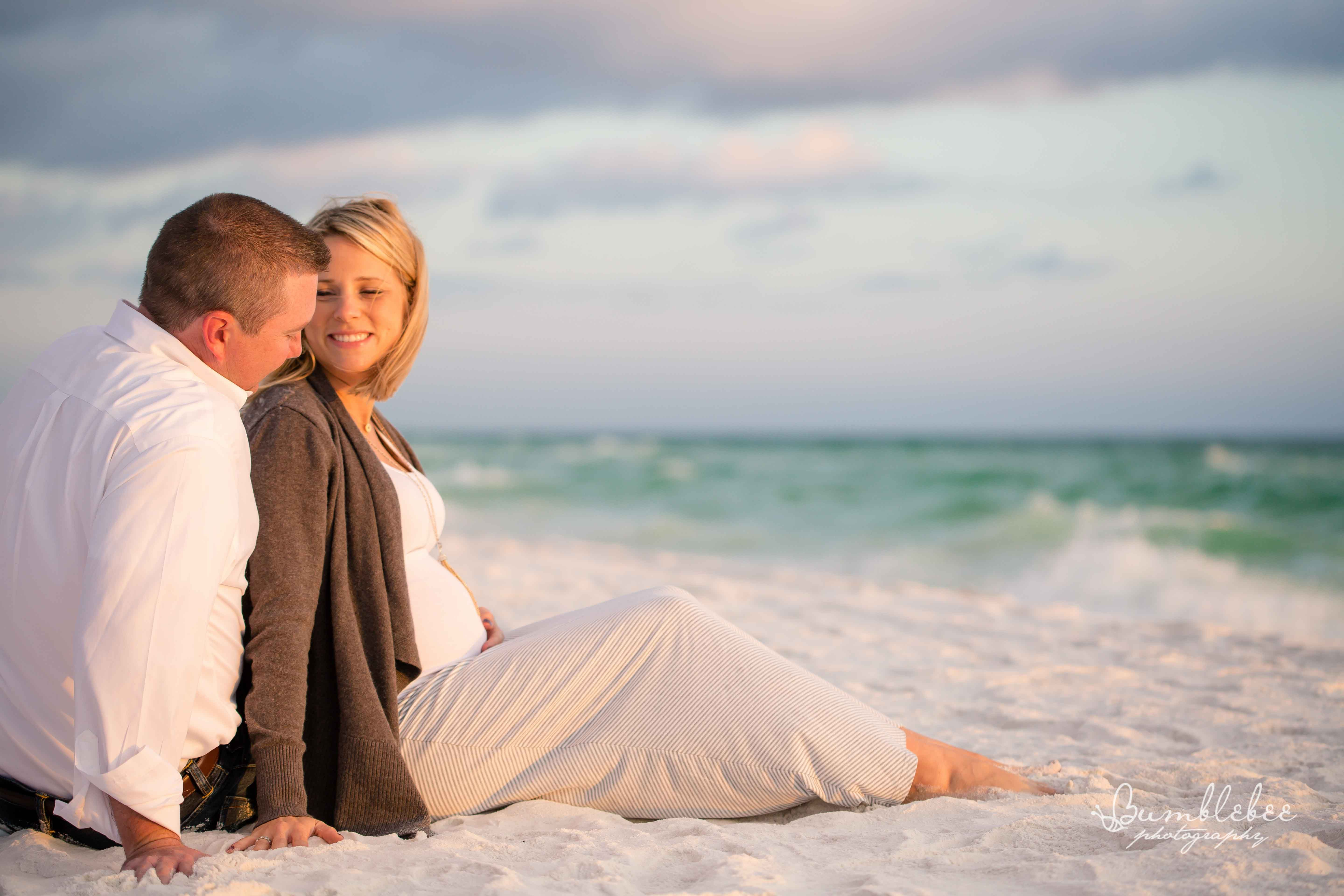 Beach Maternity Session At Watercolor Inn Near Destin Florida By
