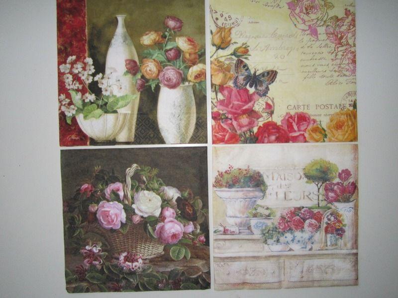 """Servietten Set """"Stilleben """"  von Ana Servietten  auf DaWanda.com"""