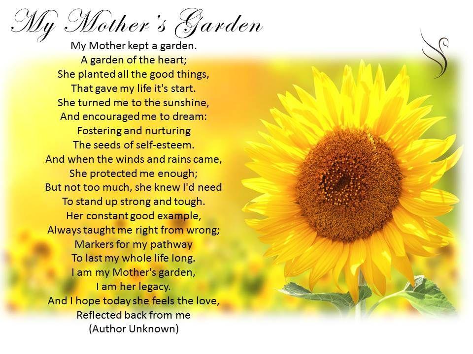 mother   garden poem      heart