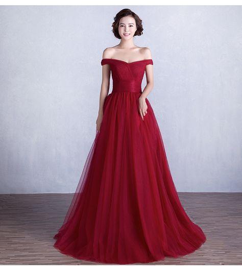 afd5c5145 Encontrar Más Vestidos de baile Información acerca de Envío Libre Barato de  Largo Borgoña Vestido de
