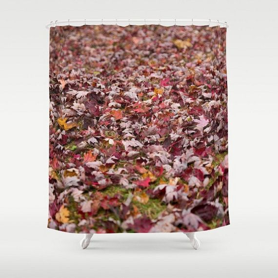 Fall Shower Curtain, Autumn Shower Curtain, Autumn Leaves, Fall Leaves,  Autumn Bathroom