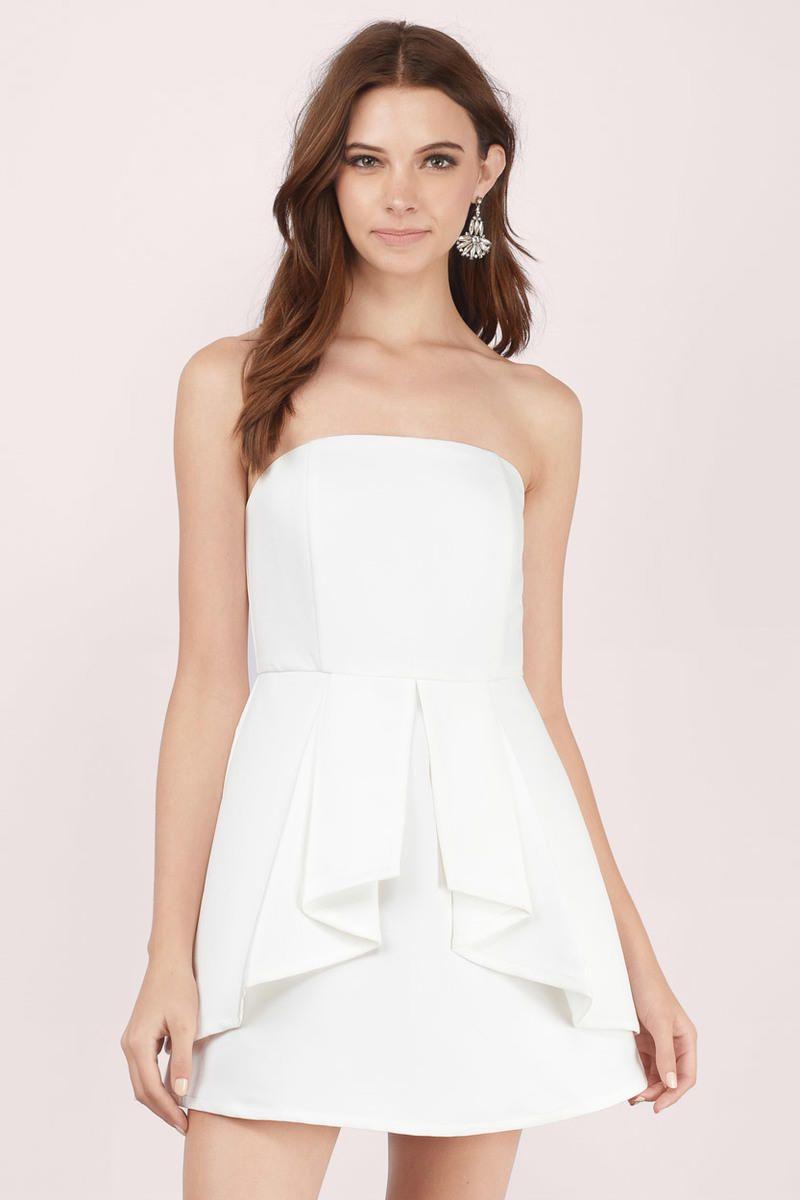 046abe6b067ef Love Story Tube Flare Dress | wardrobe | Dresses, White strapless ...