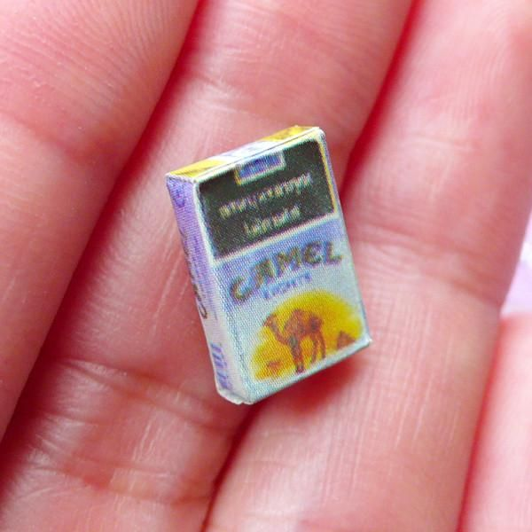 Miniature Camel Cigarette Pack | 1:12 Scale Dollhouse Tobacco | Doll House Grocery (8mm x 13mm)