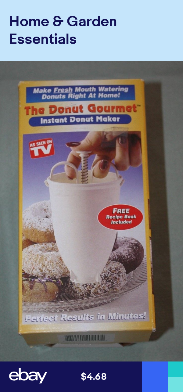 Instant Donut Maker The Donut Gourmet As Seen on TV NIB Never Used
