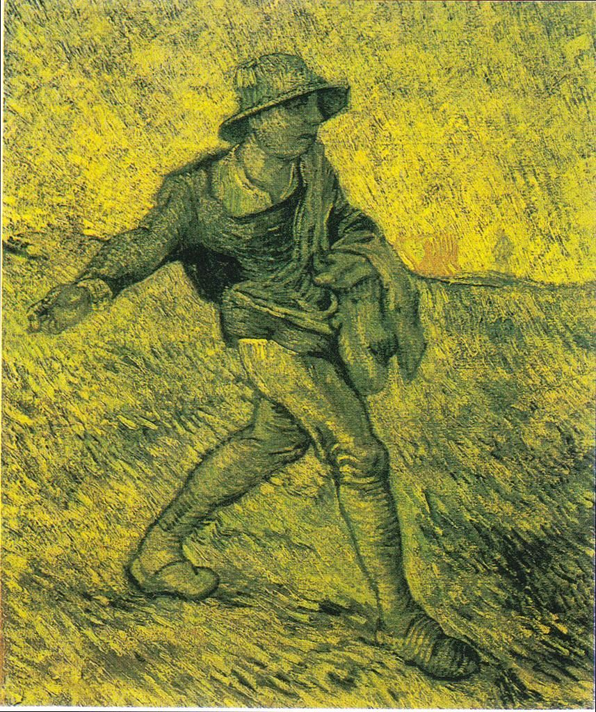 The Athenaeum - The Sower (after Millet) (Vincent van Gogh - )