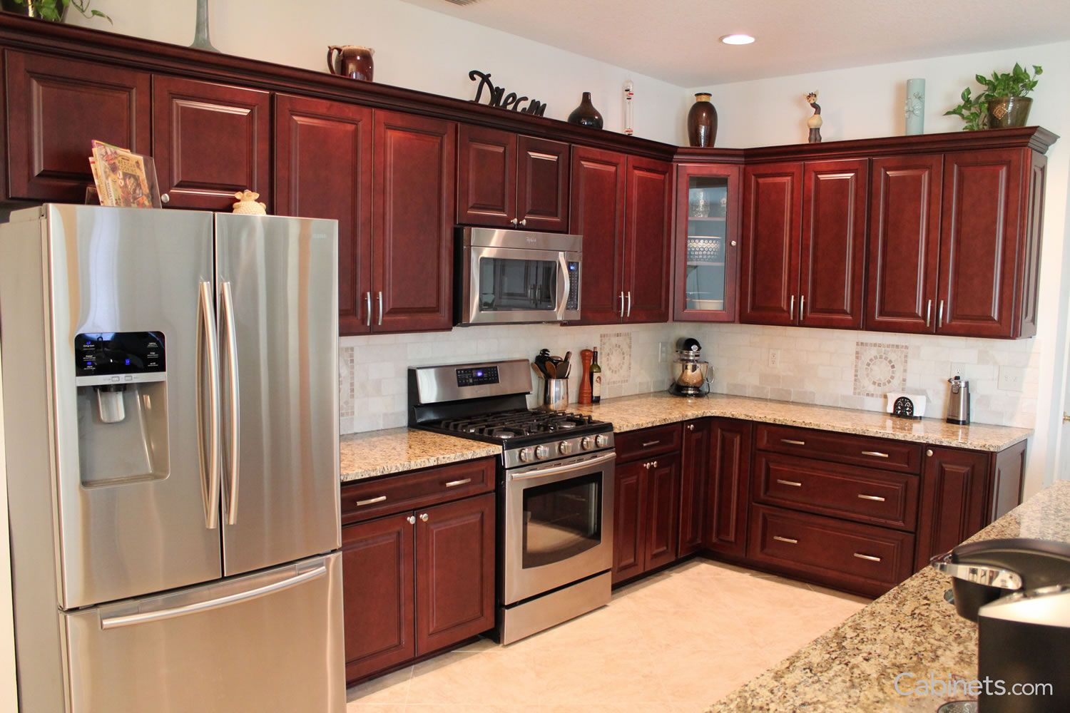 Youngstown Maple Merlot Coffee Glaze Discount Kitchen Cabinets Kitchen Cabinets Kitchen