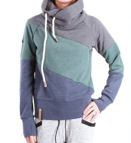 Naketano Bronson Reloaded II W hoodie blue green grey
