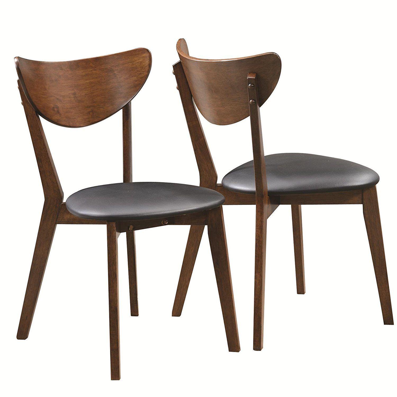 $97 Set Of 2 Amazon.com   Coaster 105362 Home Furnishings Side Chair (Set. Retro  Dining ...