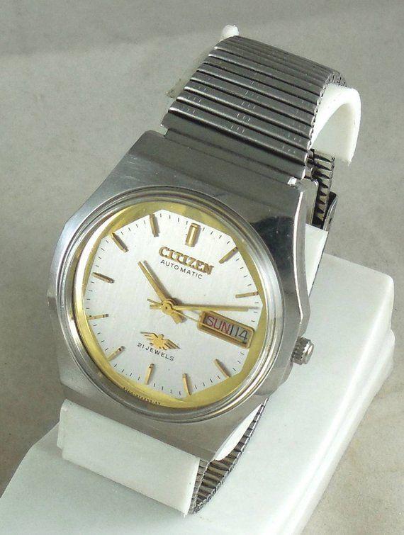 586090690 Original VINTAGE CITIZEN Automatic 21J Japan 8200 Running Watch D&D@3#w1163