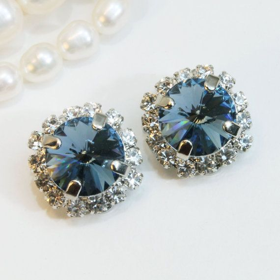 Jewelry Earrings Silver Rhinestone Earrings Sparkling Gift Clear Vintage Collectible Women Rhinestones Unique Super