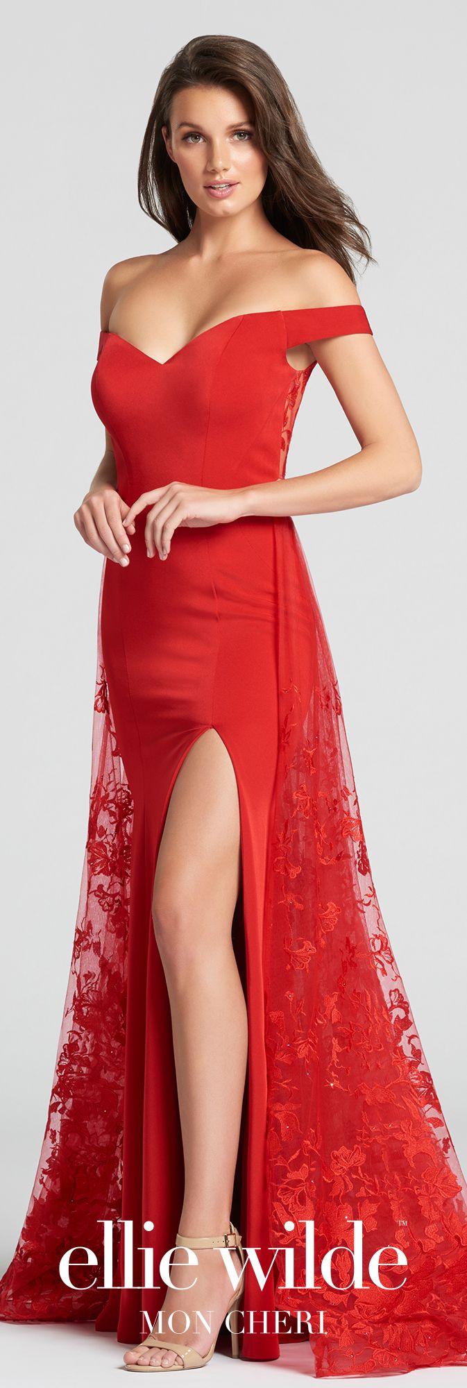Offtheshoulder crepe lace u tulle aline prom dress ew