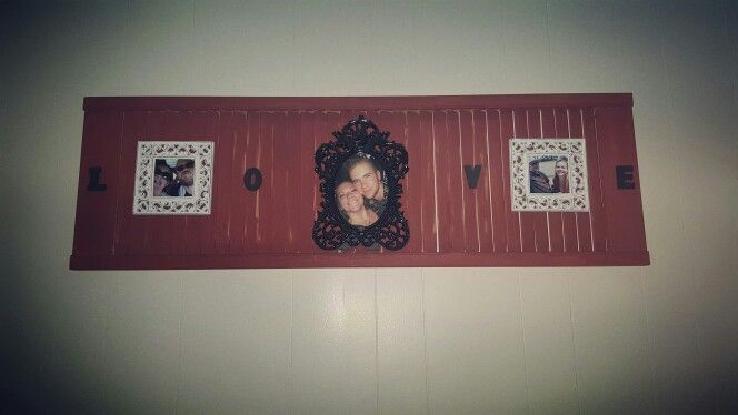 Old saloon doors made into a rustic wall hanging.