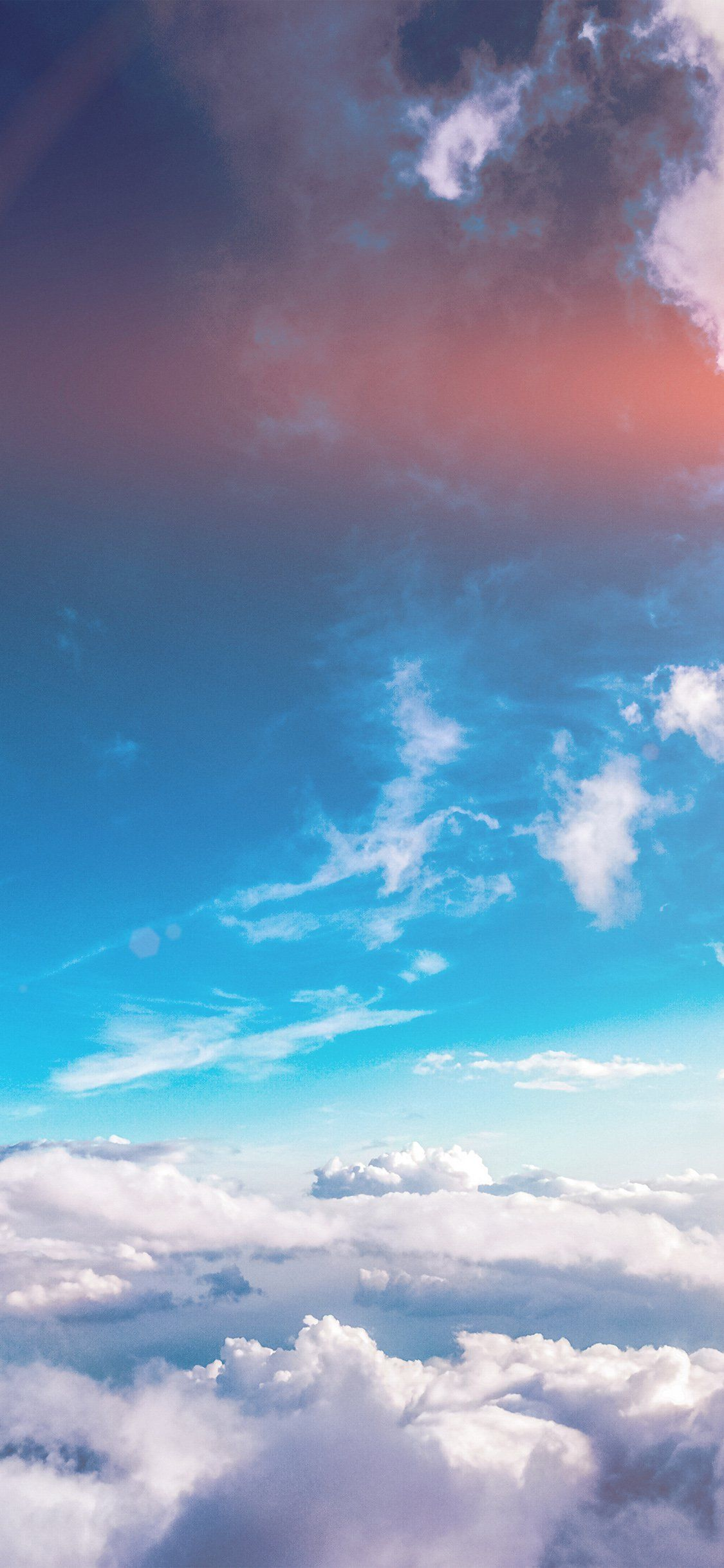 Summer Sunny Flare Iphone X Wallpaper Clouds Wallpaper Iphone