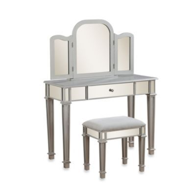 linon home annalisa vanity set bedbathandbeyond com tomb sweet rh pinterest com