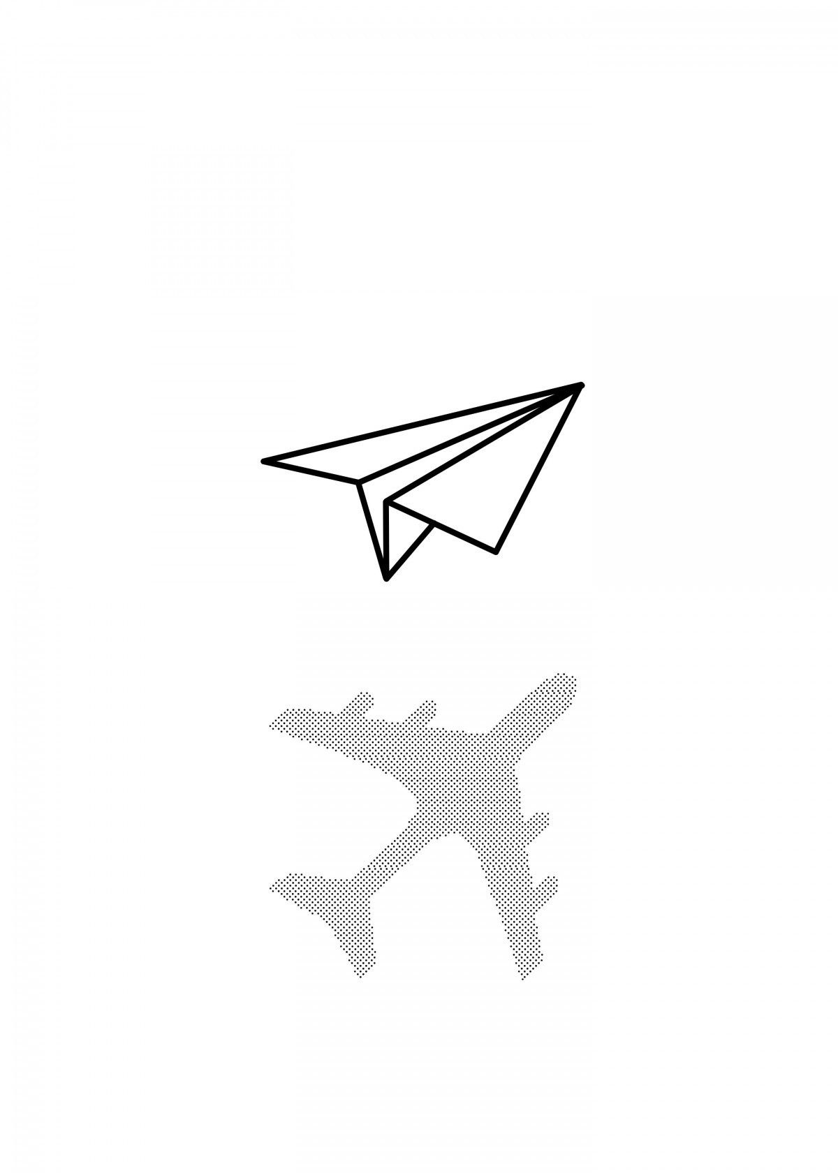 Paper Airplane Drawing Kid S Room Poster Print Metal Posters