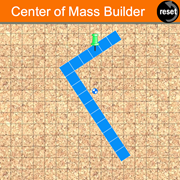 Center of Mass Builder: This HTML5 simulation from The