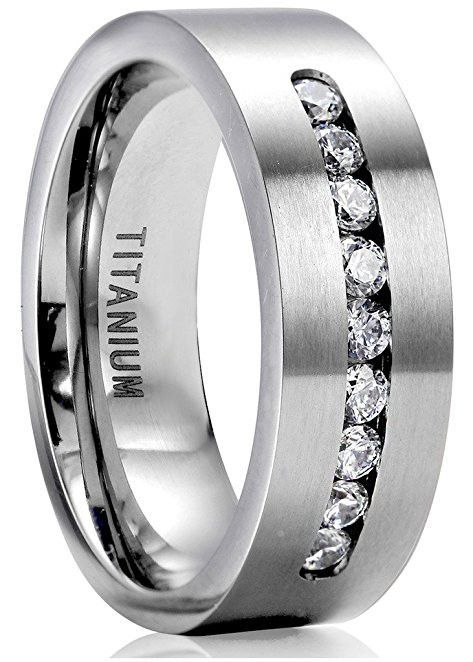 8mm titanium engagement rings for men promise ring jewelry - Titanium Wedding Rings For Men