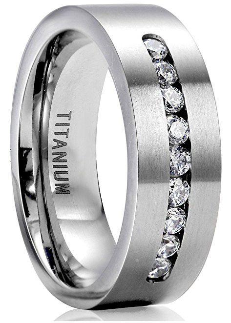 4c604e1ea2 8mm Titanium Engagement Rings for Men Promise Ring Jewelry | Promise ...