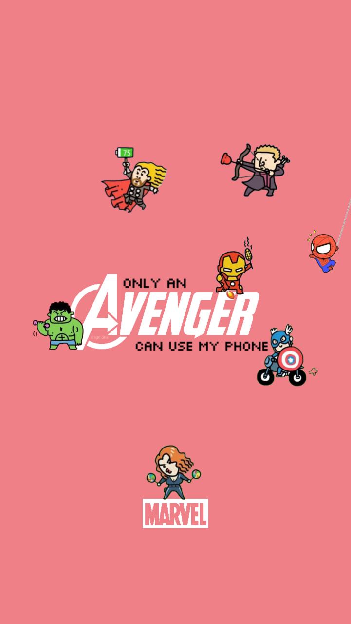 Only An Avenger Can Use My Phone Marvel Background Avengers Wallpaper Marvel Cartoons
