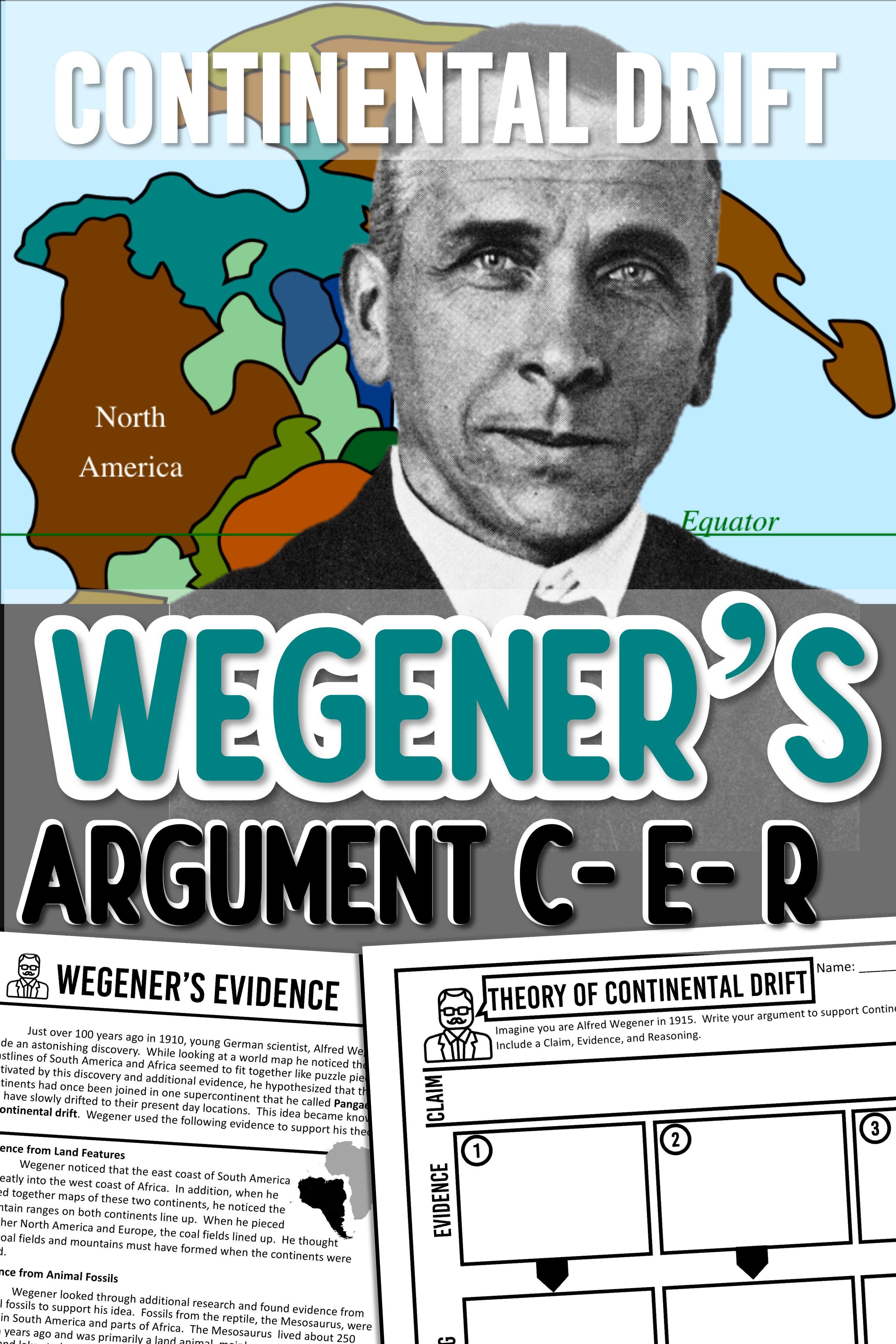 Wegener S Continental Drift Argument With Claim Evidence