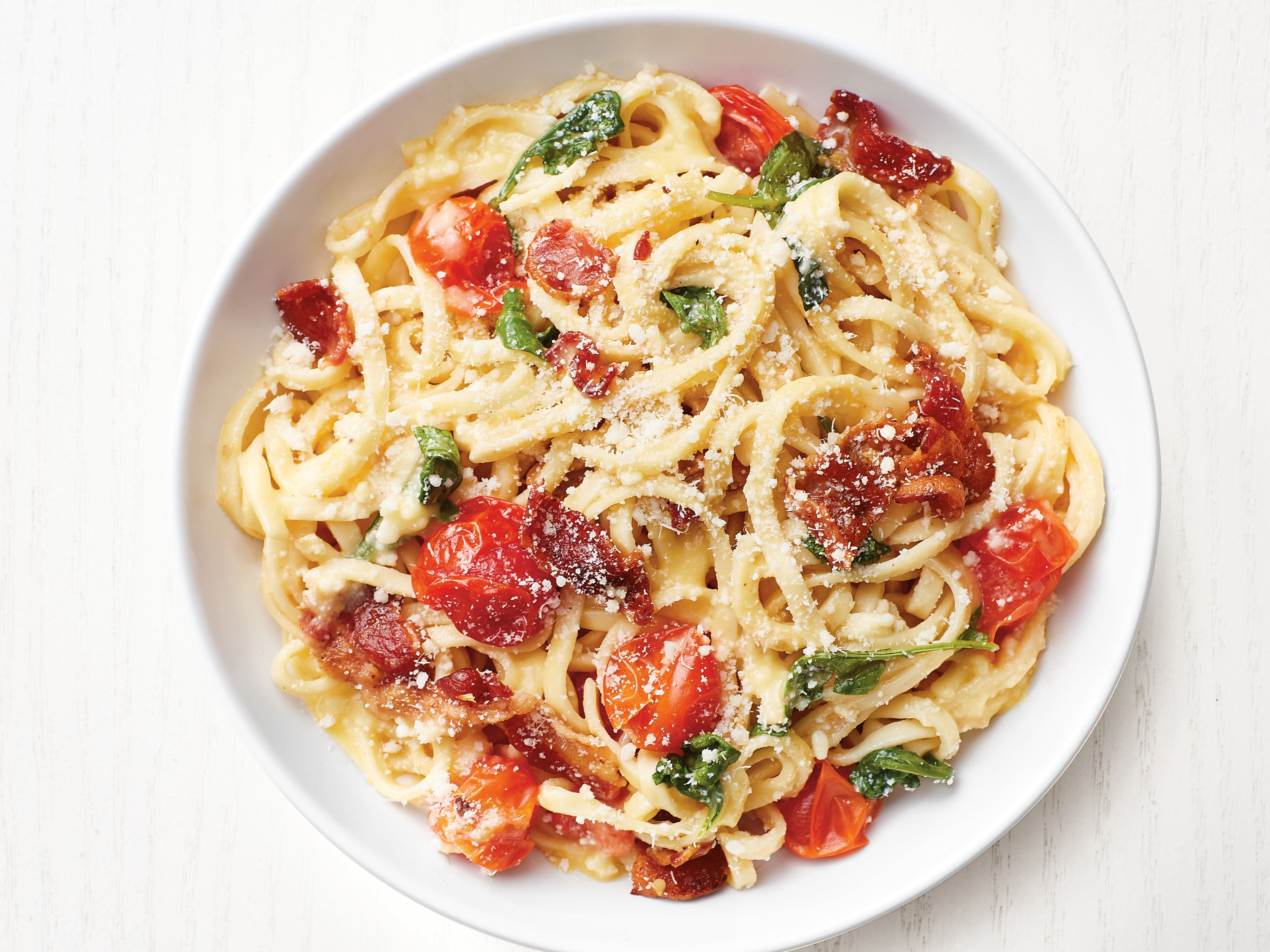 Bacon tomato linguine recipe tomato linguine linguine and bacon forumfinder Image collections
