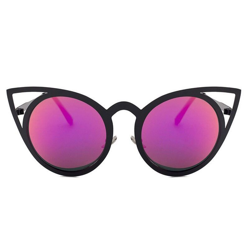 c6d25361f290 Cat Eye Black   Purple Sunglasses