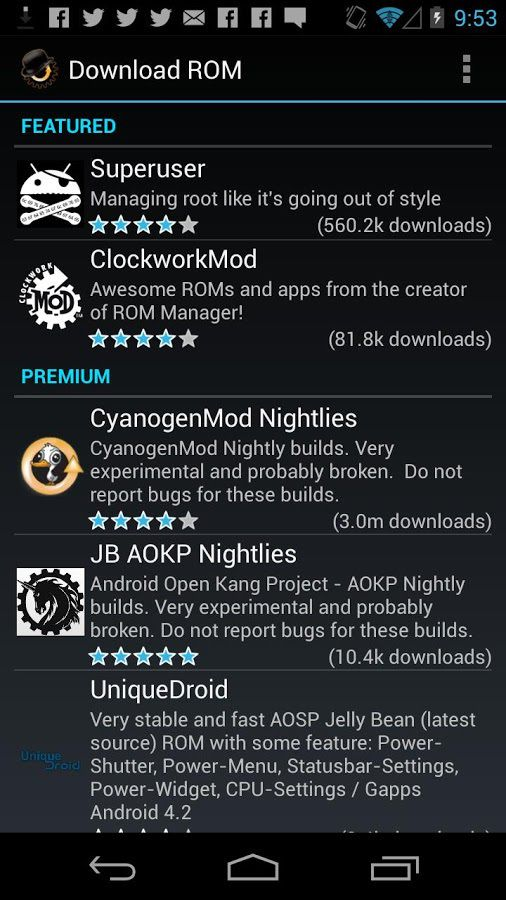 ROM Manager Premium apk 1 0 8 Cracked Latest Version free