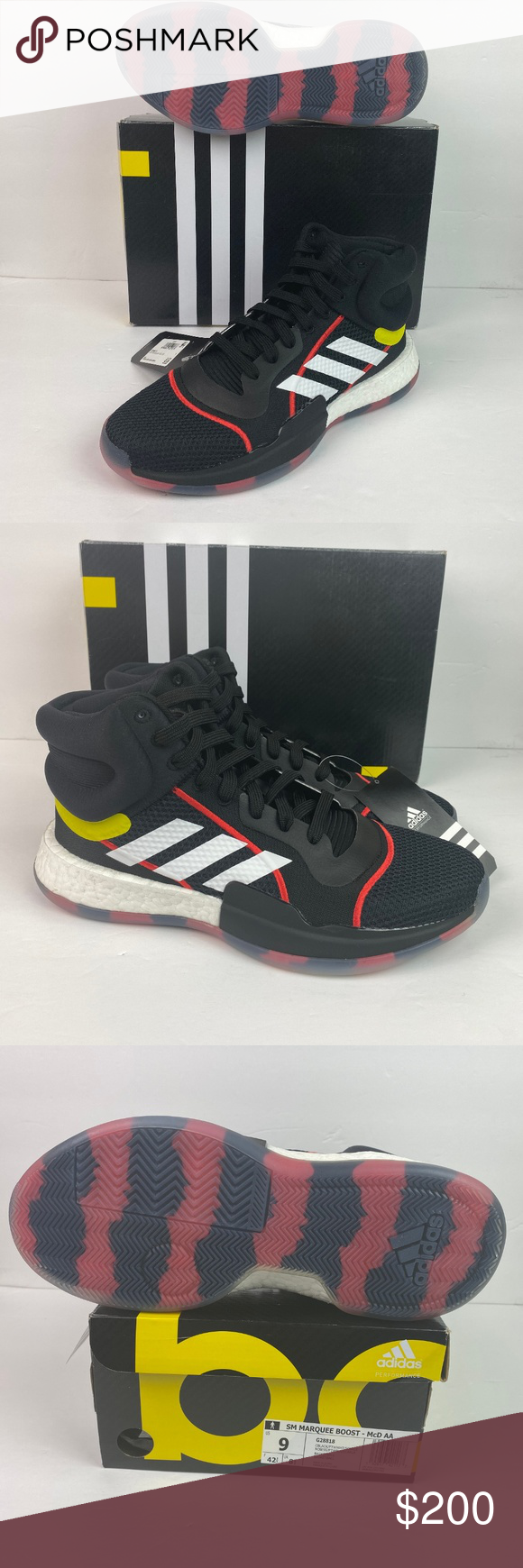 Adidas Marquee Boost - McDonalds AA All American Size 9 These are RARE Player Edition Sneakers Made for the McDonalds All American Game  NEW WITH TAGS   Ships same day or next from my smoke free home.  Offers considered thru the offer button