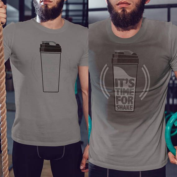 c29abfd157d45 It's Time For a Shake - Funny After Workout Sweat Color Changing Men T-Shirt
