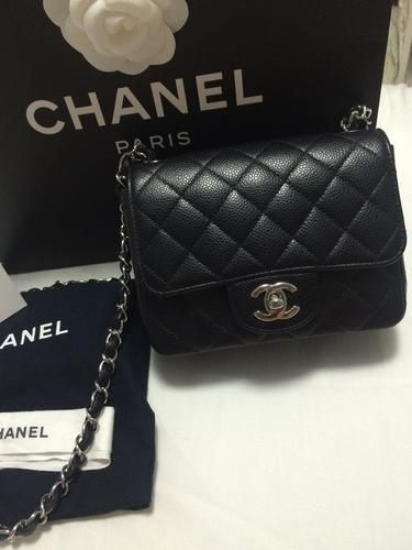 b600b41614be Chanel Mini Square, Chanel Handbags, Minis, Chanel Bags, Miniatures, Chanel  Tote
