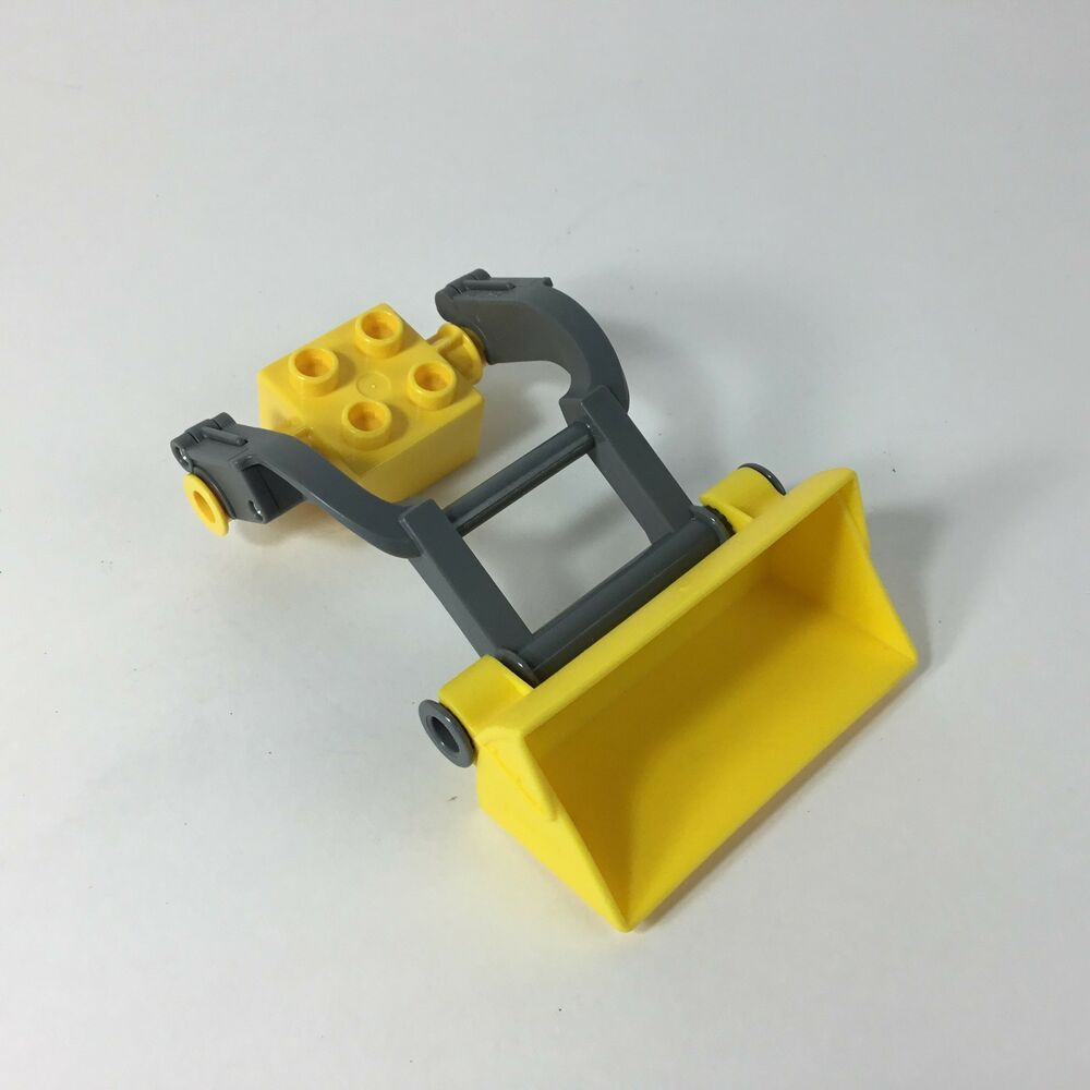 Lego Duplo Front Loader Bucket Arm Assembly Yellow Gray Lego