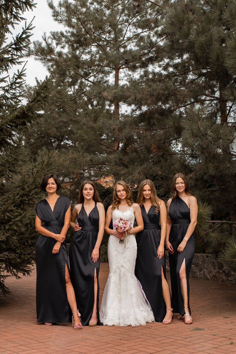 Maxi Silk Wrap Bridesmaid Dress Navy Long Silk Infinity Prom Etsy Black Bridesmaid Dresses Silk Bridesmaid Dresses Affordable Bridesmaid Dresses [ 1191 x 794 Pixel ]