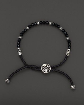 John Hardy Men s Sterling Silver Batu Bracelet with Black Onyx Beads ... 5b8de4a7cb97e