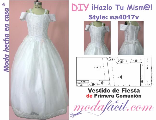 de download moldes livres Prom Dress primeira comunhão disponível em ...
