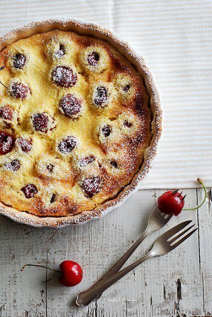 Cherry Cottage Cheese Pie