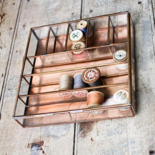 Design Vintage | Copper Collections Box | Nkuku Kavali Glass Box