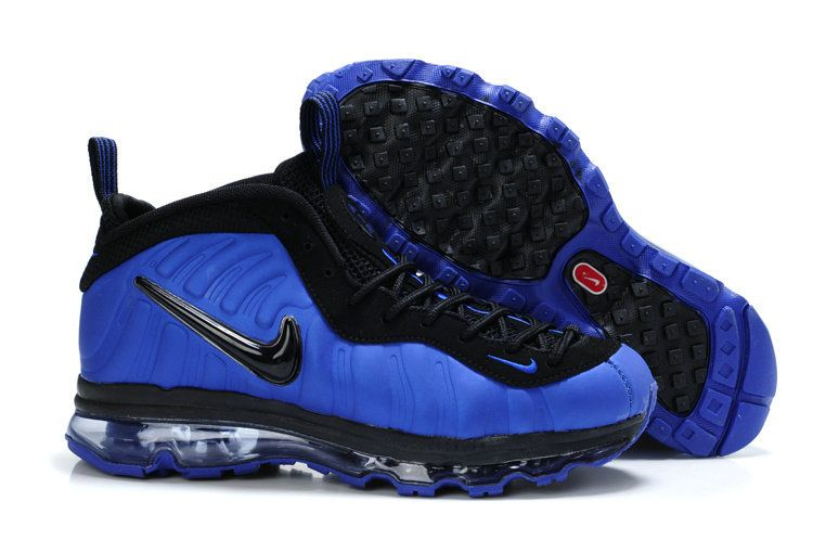 Nike Air Max Foamposite Pro blue/black basketball shoes for sale