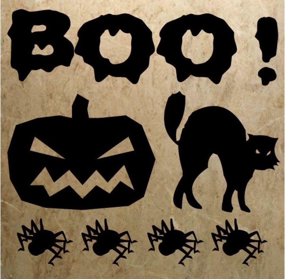 Halloweens Scary Boo Wall Art, Decal Halloween decals