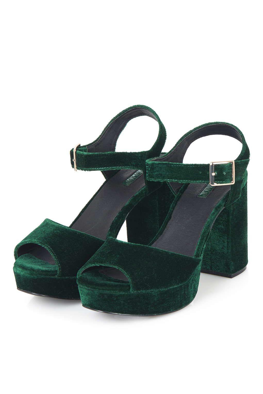 dab5bd357bde LIMBO Velvet Platform Sandals - Topshop
