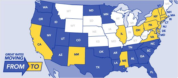Penske Truck Rental Our U S Map Highlights States With Great One