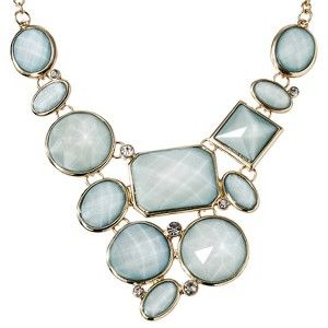 Women's Assorted Stone Plate Necklace - Green
