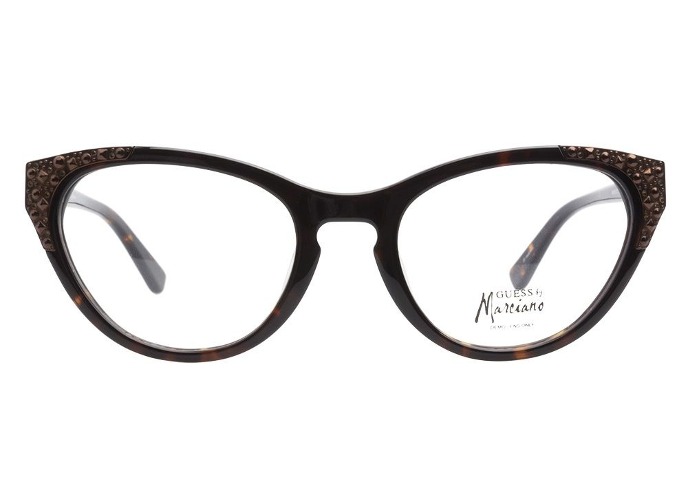 Guess by Marciano 133 Tortoise eyeglasses have a flair for the ...