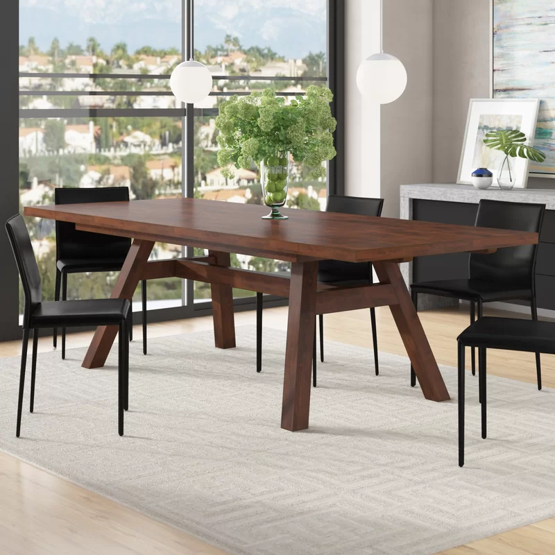 Brayden Studio Damiani Extendable Dining Table Reviews Wayfair Dining Table In Kitchen Dining Table Maple Dining Table
