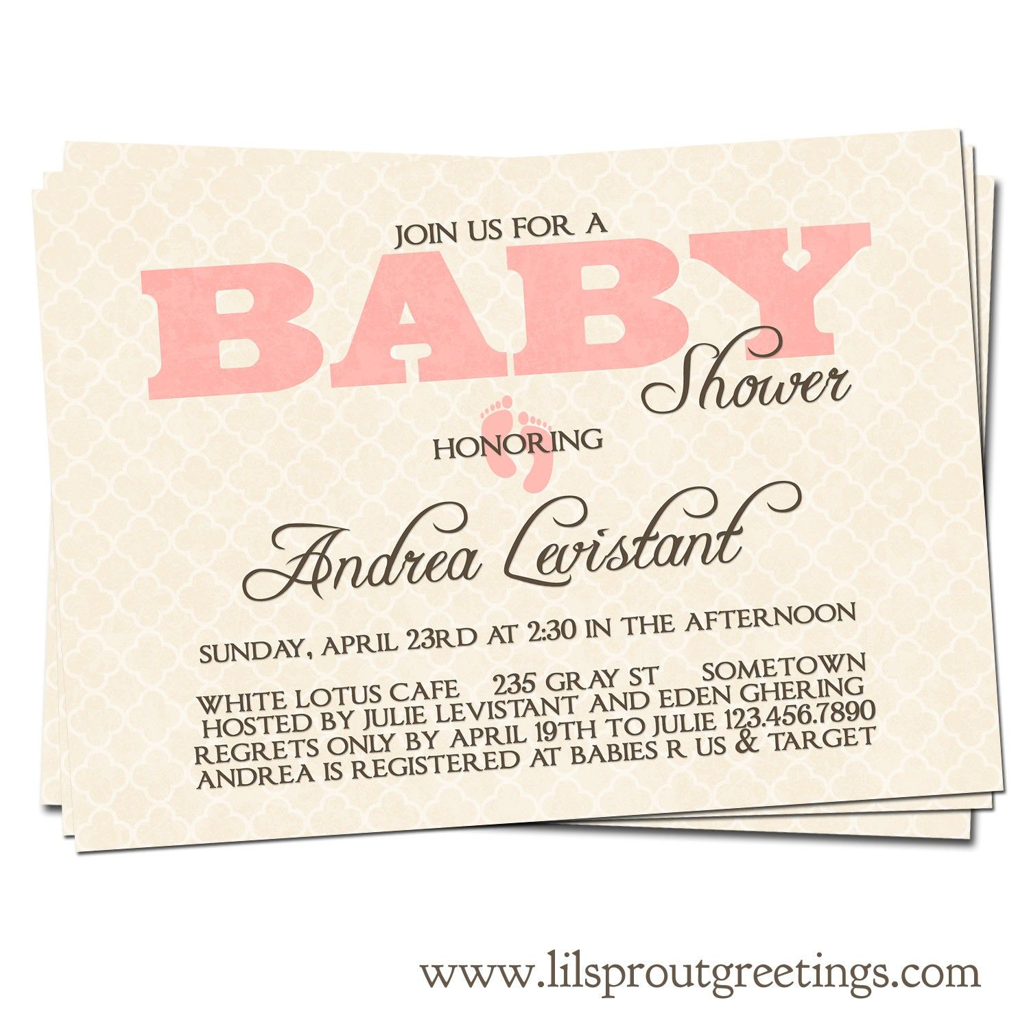 Vintage Baby Shower Invitation Boy Or Girl By Lilsproutgreetings