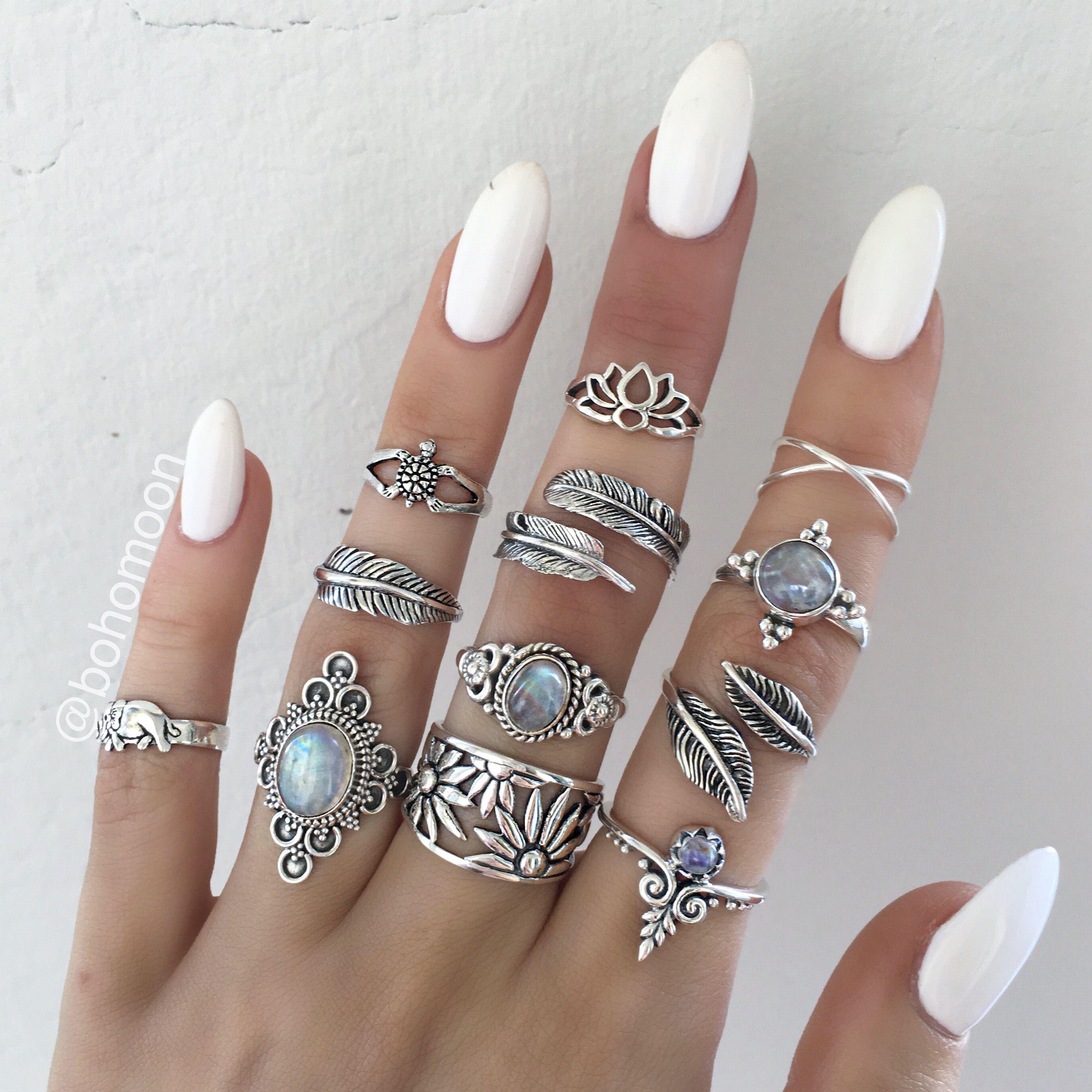 Cute Jewelry Hand Rings Jewelery Silver Boho