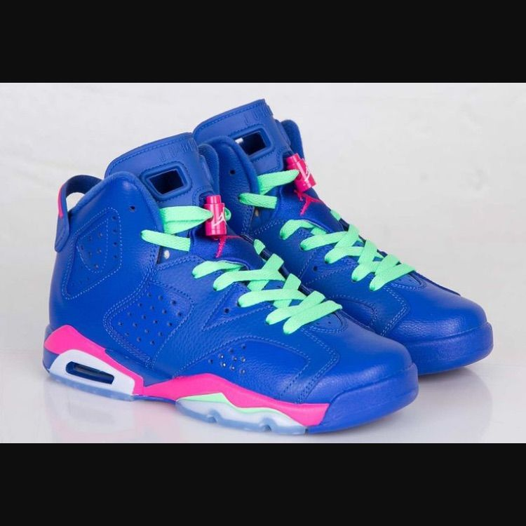 new concept c0f6c 74b14 Nike Shoes   Bright Stunning Air Jordans 6 Retro Game Royal   Color  Blue  Pink   Size  6 Boys 7 Women