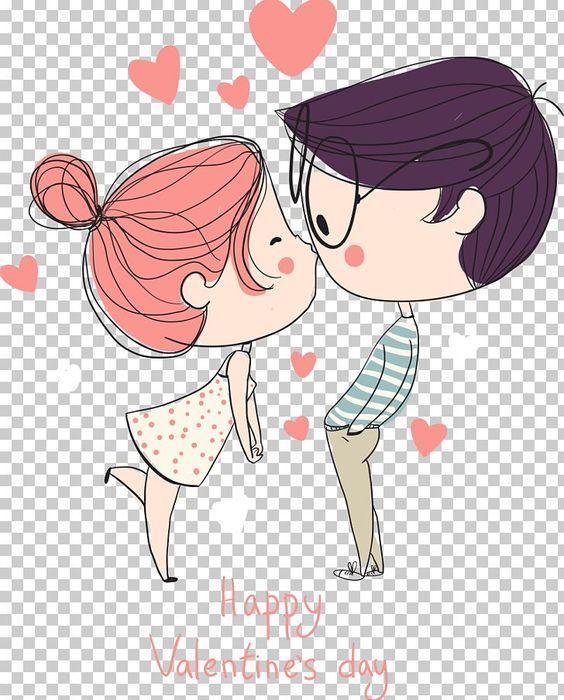 San Valentin 2020 E Imagenes En 2020 Beso Dibujo Dibujos Animados De Pareja Amor Y Amistad Dibujos